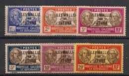 Wallis Et Futuna - 1930-38 - N°Yv. 60B à 65 - Bougainville - 6 Valeurs - Neuf Luxe ** / MNH / Postfrisch - Unused Stamps