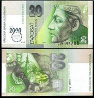 Slovakia 20 Korun 2000 P 34 Comm. UNC - Slovacchia