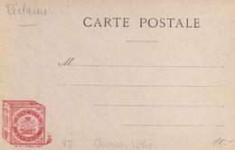 Publicité Pour Les Biscuits Germain Sur Carte Postale Précurseur, De Montreux - Publicidad