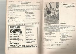 INTERNATIONAL ATHLETIC MATCH , GT. BRITAIN & N. IRELAND V. U.S.S.R. , 17 / 18 JUNE 1966 , LE PROGRAMME - 1950-Oggi