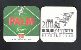 Bierviltje - Sous-bock - Bierdeckel  PALM  - 25 ST BEGIJNHOFFEESTEN DENDERMONDE(1980-2004) AUGUSTUS  2004   (B 338) - Sous-bocks