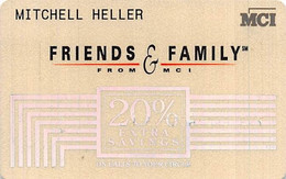 MCI Friends & Family 20% Extra Savings Calling Card (different Backs) - [3] Magnetic Cards
