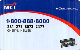 MCI Worldphone Blockbuster Calling Card - [3] Magnetic Cards