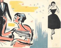 Publicité - Mode: Fermeture Nylon Prestil - Carte Double De Voeux (Société Le Prophète, Grenoble) - Non Classés