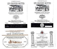 Lot De 10 étiquettes De   Premières Côtes De Blaye    Neuves - Bordeaux