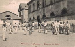 03 MOULINS   RARE  CPA  10e Chasseurs - Escrime Du Sabre - Moulins