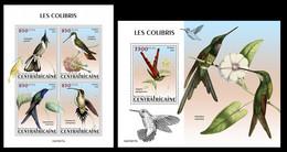 Central Africa 2021 Hummingbirds. (217) OFFICIAL ISSUE - Hummingbirds