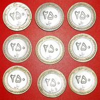 • SET 9 COINS: IRAN ★ 250 RIALS RUN YEARS 1373-1382 (1994-2003)! LOW START ★ NO RESERVE! - Lots & Kiloware - Coins
