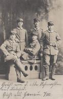 PHOTO ALLEMANDE - GUERRE 14-18 - HANAU (ALLEMAGNE) - PHOTO STUDIO CINQ SOLDATS - Guerra 1914-18