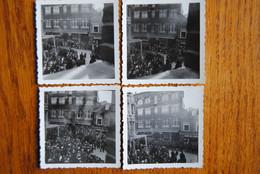 5212/4 Photos Format (6,4x6,3 Cm)-ARLON-Et.FACH Frères-Défilé MILITAIRE Chass.Ard. - Patriottisch