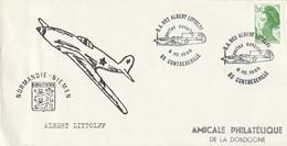 """OT Sur Enveloppe : BA 902, Albert Littolf, """"Normandie-Niemen"""" (Contrexéville, 88-Vosges) Du 09-10-1988 Sur YT 2487 - Commemorative Postmarks"""