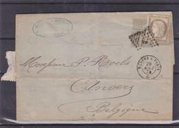 France - Lettre De 1874 - Oblit  NP De Nantes - Exp Vers Anvers - Cachet Nantes à Paris - Cachet France Midi 2 - 1871-1875 Ceres