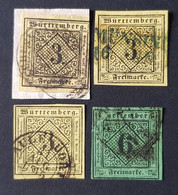 Allemagne - Germany Wurtemberg - Timbre(s) (O) - 2 Scan(s) - TB - D680 - Wuerttemberg