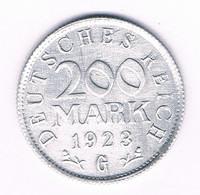 200 MARK 1923 G  DUITSLAND /5905/ - 200 & 500 Mark
