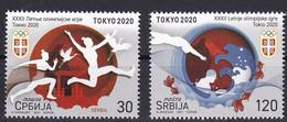 SERBIA 2021,SPORT,OLYMPIC GAMES TOKYO,MNH - Serbien