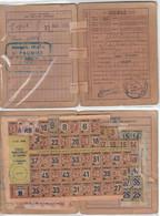 Carte Et Tiquets Rationnement Lot 4 1949 - Non Classés