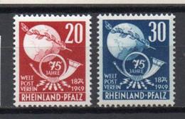- ETAT RHENO-PALATIN / RHEINLAND-PFALZ / OCCUPATION FRANCAISE N° 50/51 Neufs ** MNH - Cote 16,00 € - - French Zone