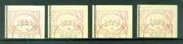 Autriche   Distributeur   4 Valeurs  Serie  3  De 1995  Ob  TB   Obli 1 Jour - 1991-00 Used