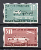 - WURTEMBERG / OCCUPATION FRANCAISE N° 49/50 Neufs ** MNH - Cote 19,50 € - - French Zone