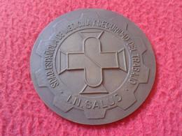 SPAIN ESPAÑA MEDALLA CONGRESO EXTRAORDINARIO DE MEDICINA EN EL TRABAJO MADRID 1982 OLD MEDAL INSALUD..MEDICINE CONGRESS - Unclassified