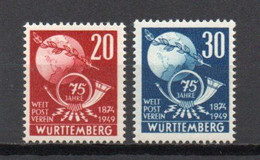 - WURTEMBERG / OCCUPATION FRANCAISE N° 51/52 Neufs ** MNH - U.P.U. 1949 - Cote 17,00 € - - French Zone