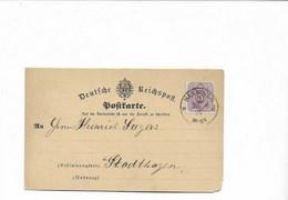 Karte Aus Hannover Nach Stadthagen 1875 - Briefe U. Dokumente