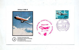 Carte  Exposition  Transport Hambourg  Cachet Airbus - Avions