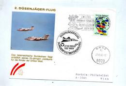 Lettre Tranport Poste Par Avion à Reaction Cachet Wien - Avions
