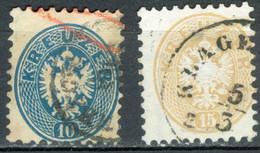 Autriche   Yvert  30 Et 31  Ou Michel  33/34  Ob  B/TB - Oblitérés