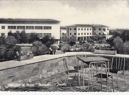 JESOLO-VENEZIA-VILLAGGIO AL MARE=MARZOTTO=-CARTOLINA VERA FOTOGRAFIA-VIAGGIATA IL 27-8-1956 - Venezia (Venice)