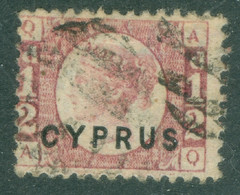 Chypre   Yvert  1  Ob  B/TB   Planche 15 - Cyprus (...-1960)