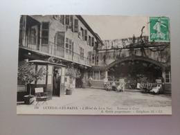 Luxeuil Les Bains L'Hôtel Du Lion Vert Terrasse Et Cour Téléphone 11 A. Grille Propriétaire Haute Saône Franche Comté - Otros Municipios