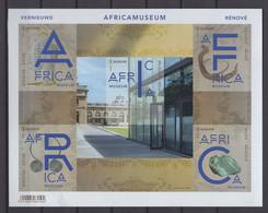 2018 AFRICAMUSEUM  ZWART WIT VELLETJE BL264ZW - Zwarte/witte Blaadjes