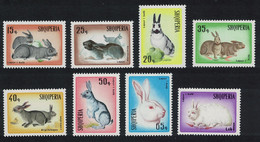 Albania Rabbit-breeding Rabbits 8v 1967 MNH SG#1153-1160 CV£11.95 - Albanië