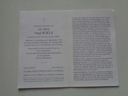 Doodsprentje/Bidprentje  Vital ROELS  Oudenburg 1912-2001 Ettelgem   (Echtg Yvonne HUYS) - Religion & Esotérisme