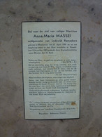 MASSEI ANNA MARIA °MAASTRICHT 1901 + HASSELT 1945 - Devotion Images