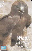 Nº 65 TARJETA DE GIBRALTAR DE UN AGUILA (BIRD-EAGLE-PAJARO ) - Gibraltar