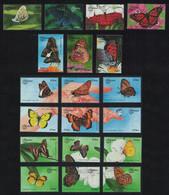 Bhutan Butterflies 19v 1999 MNH SG#1386-1404 CV£27.- - Bhutan