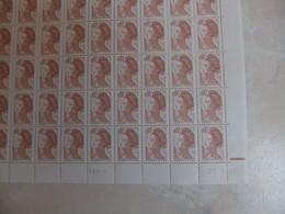 Feuille De 100 Timbres De 1982 Neuf** Y&T N° 2239 RE CD 27.06.88 En TD6-5 - Fogli Completi