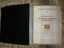 5 Alben ETB Bund FRG 16/1984 - 1992 Komplett + Bonus - FDC: Fogli