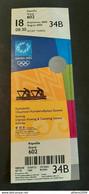 2004 Athens Olympic Games, Rowing Unused Ticket, Code: 34B - Uniformes Recordatorios & Misc