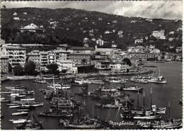 Italy / Italia - Santa Margherita Ligure - Il Porto - Ships,stamp - 1950 Italy Working ( Le Olive ) Via Sweden 1955 - Altre Città