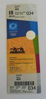 2004 Athens Olympic Games, Rowing Unused Ticket, Code: 034 - Uniformes Recordatorios & Misc
