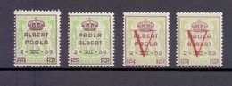 PR 129/32 PRINS ALBERT EN PRINSES PAOLA  POSTFRIS** 1959 - Erinofilia