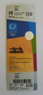 2004 Athens Olympic Games, Rowing Unused Ticket, Code: 35B - Uniformes Recordatorios & Misc