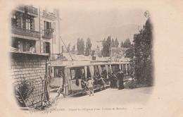 DPT 65 Lourdes Départ Dde L'Hôpital D'une Voiture De Malades CPA TBE - Lourdes