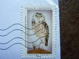 2021  Chouette Chevêche Des Terriers  Timbre Adhésif  Oblitéré Sur Lettre - Adhesive Stamps