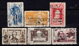 Viêt Nam Du Nord -  1946 - Tb D' Indochine Surch  - N° 2/5/12/14/24/57 - Oblit - Used - Viêt-Nam