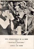 D70  LUXEUIL LES BAINS   FÊTE INTERNATIONALE DE LA BIÈRE Des Gauch'nots Et Gauch'nottes  ........ 31/08 Et 1er Sept 1968 - Luxeuil Les Bains