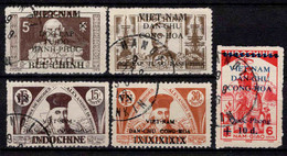 Viêt Nam Du Nord -  1946 - Tb D' Indochine Surch  - N°12/14/17/18/20- Oblit - Used - Viêt-Nam